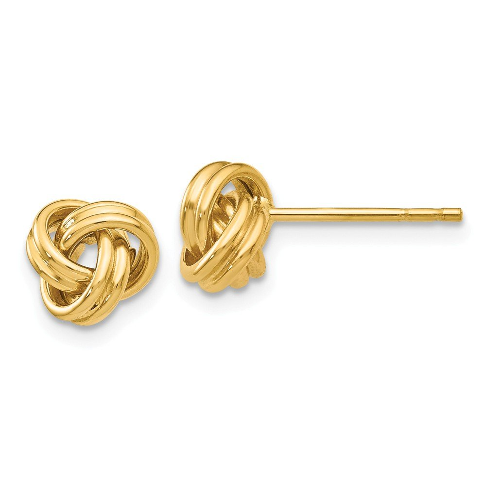 Mia Diamonds 14k Yellow Gold Love Knot Post Earrings