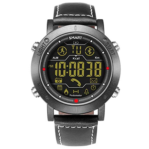 QIUSge Smart Watch, Fashion Sport Watch Wristband Sports Fitness Activity Luminous Waterproof, to Be The Best in 2019 (Black) (Best Activity Wristband 2019)