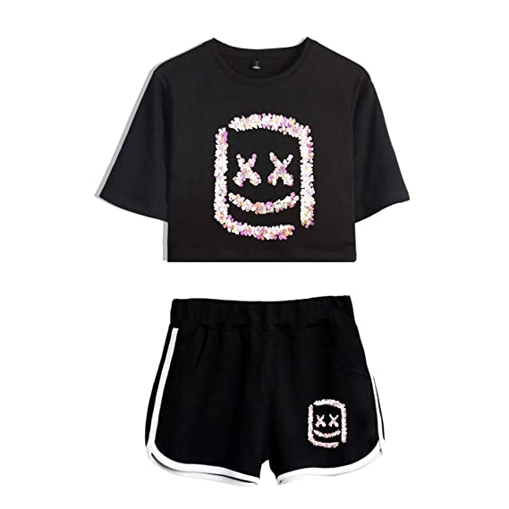 Unisex Camiseta Marshmello 3D Set Ombligo Traje De La Manga ...