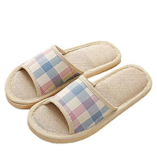 Flats Shoes Casual Sneakers Home Slippers Beach Sandals Flip Flops Striped Women Indoor Slipper Pink 6.5 (Best Massage In Riyadh)