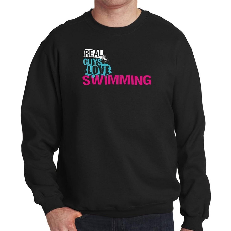 Real guys love Swimming Mens Sweatshirt