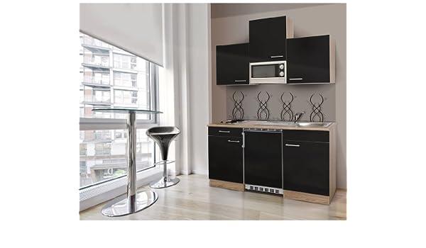 respekta KB 150 WWC - Bloque de Cocina (150 cm, Roble, Negro ...