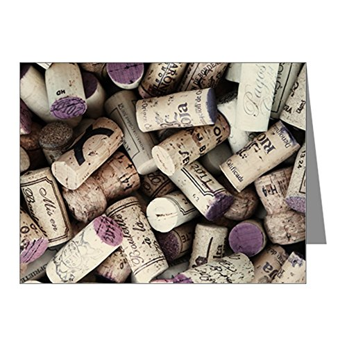 Note Card I love Wine Corks (Tasting Chardonnay Notes)