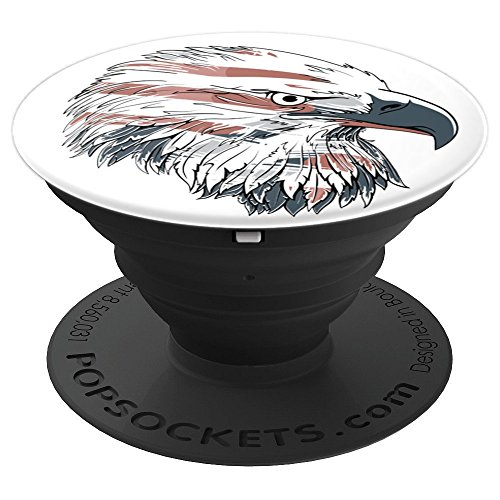 Minted Eagle - Patriotic American Flag Bald Eagle USA - PopSockets Grip and Stand for Phones and Tablets