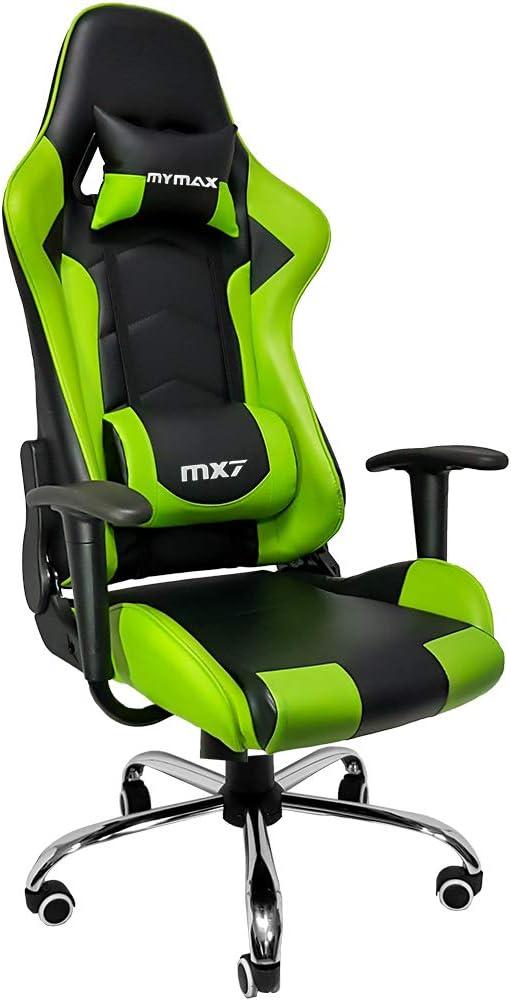 Cadeira Gamer Mx7, Mymax, 25.008789, Verde/Preto