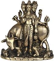 Lord Dattatreya - Brass Sculpture