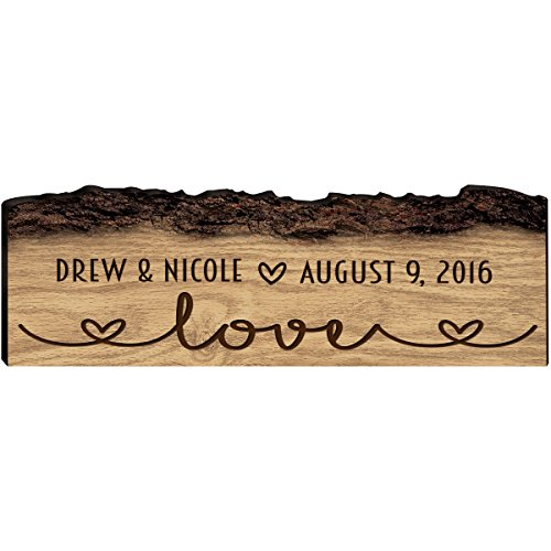 Gift Custom Family Name Sign Engraved with Family Name With Established Date New Home Gift Love Wall Plaque By Dayspring Milestones (Love) (Established Date Plaque)