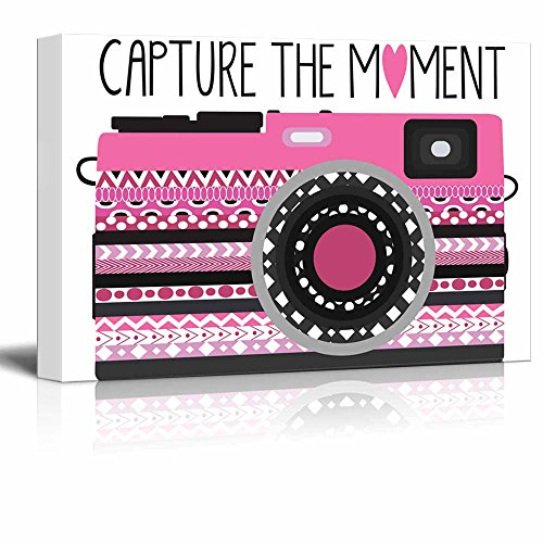 Capture the Moment pink zentangle camera on a simple white background