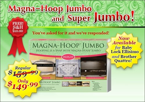 "Magna Hoop Jumbo (Version J-eq) 8"" X 8"" Brother Quattro & Babylock Ellisimo Embroidery Machine"