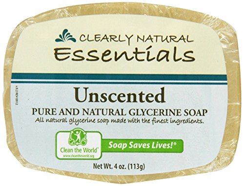 Clearly Natural Glycerine - Clearly Natural: Glycerine Soap, Unscented 4 oz (4 pack)