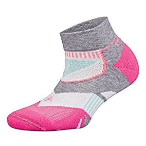 Balega Women's Enduro V-Tech Socks (Medium, Midgray/Watermelon)