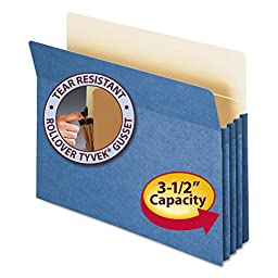 SMD73225 - Smead 73225 Blue Colored File Pockets