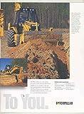 1996 Caterpillar 426 436 315L TH63 Excavator Loader Construction Brochure