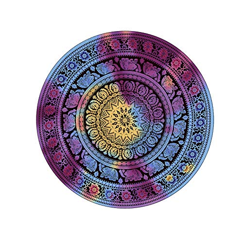 VOLADOR Tie Dye Tapestry, Round Bohemian Hippie Wall Hanging Tapestry, Mandala Gypsy Psychedelic Tapestry Beach Blanket for Living Room, Bedroom, Dorm, Table, Picnic - Dye Tie Wall Tapestries