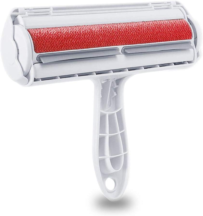Removedor de pelo para mascotas, rodillo de pelusa de piel, removedor de pelo de gato y perro, perfecto para limpiar el automóvil, ropa, muebles, sofá, sofá, alfombras
