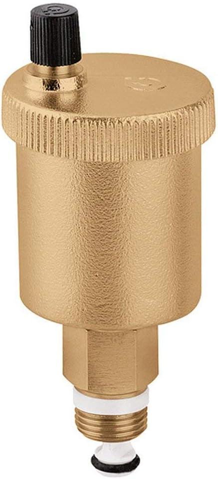 Caleffi 502140 Minical - Válvula de cierre automático (1/2 pulgada de rosca exterior con bloqueo)