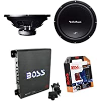 2) Rockford Fosgate R1S4-12 12 600W Subwoofers Subs + Mono Amplifier + Amp Kit