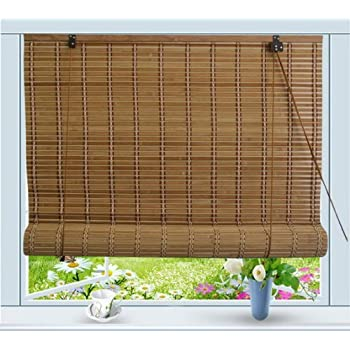 Bamboo Roll Up Window Blind Sun Shade W48  x ...  sc 1 st  Amazon.com & Amazon.com: Bamboo Roll Up Window Blind Sun Shade W48