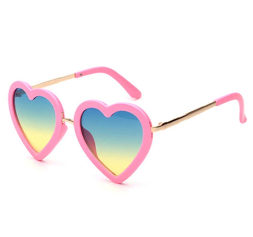 Fafcitvz Kids Polarized Sunglasses UV Protection Party Favors for Girls Age 3-8 Children (Pink)