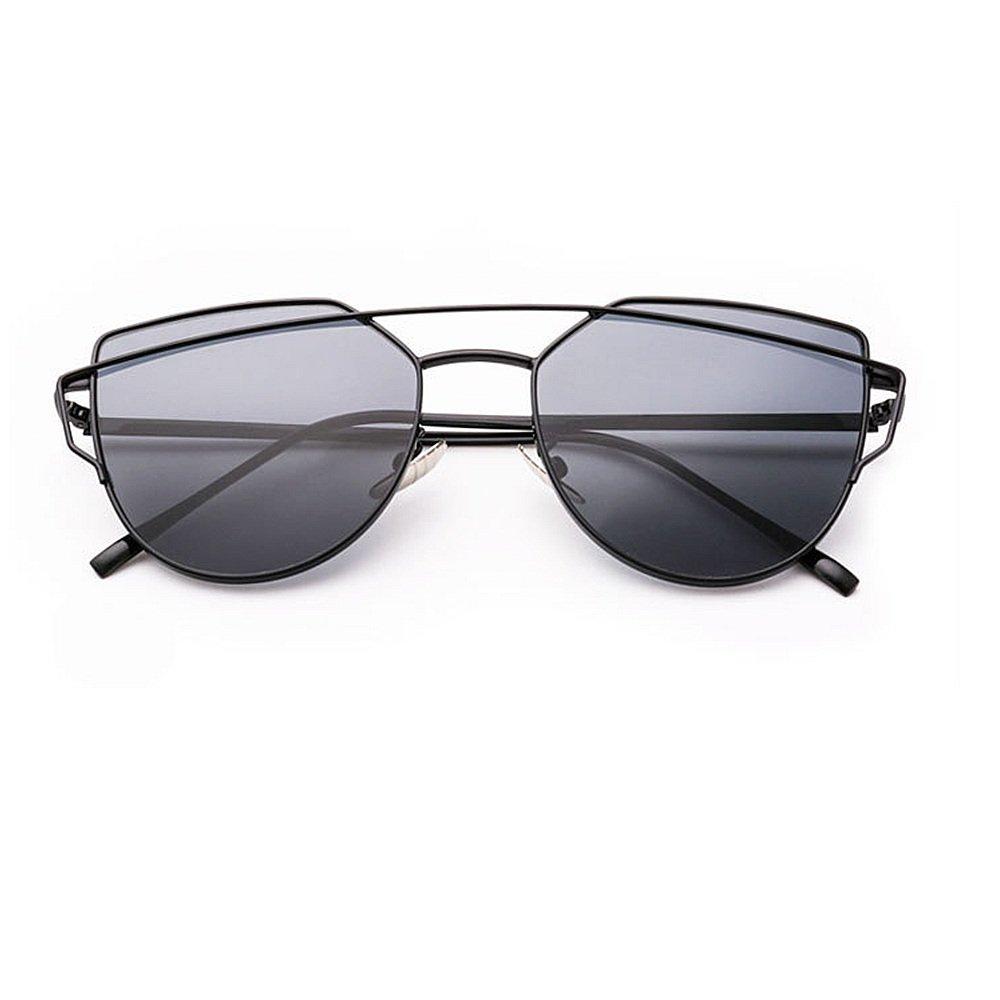 Gafas de montura sol retro Gafas unisex para mujer hombre brillante ...
