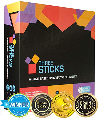 Kitki Three Sticks Math Game Fun Shapes - Fun Shape Toy