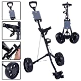 Best Team Golf Golf Push Carts - Foldable 2 Wheel Push Pull Golf Cart /Cup Review