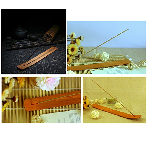 TrendBox 30pcs Handmade Plain Wood Wooden Incense Stick Holder Burner Ash Catcher Natural Design Buddhist by TrendBox (Image #3)