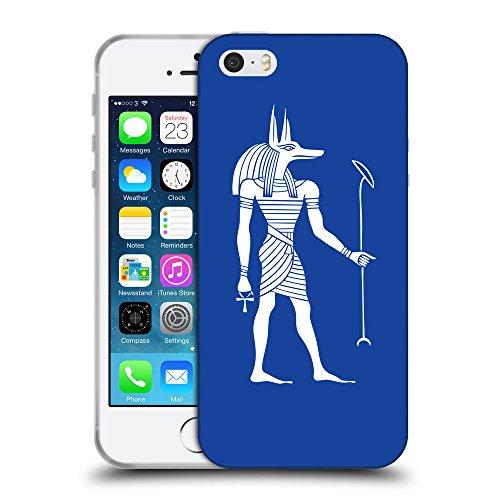 GoGoMobile Coque de Protection TPU Silicone Case pour // Q09140613 Anubis egypt 2 Bleu // Apple iPhone 5 5S 5G SE