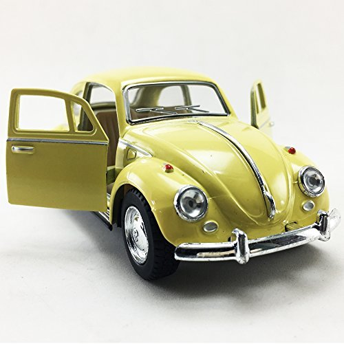 KiNSMART 1967 Volkswagen VW Classic Beetle Bug Yellow 1:32 Die-Cast Model,Toy,Car,Collectible,Collection