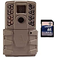 Moultrie A30 12MP 60 HD Video Low Glow Infrared Game Trail Camera + 8GB SD Card