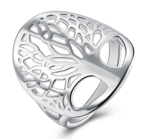 925 Sterling Silver Ring, Women's Wedding Bands Tree of (Sterling Trees)
