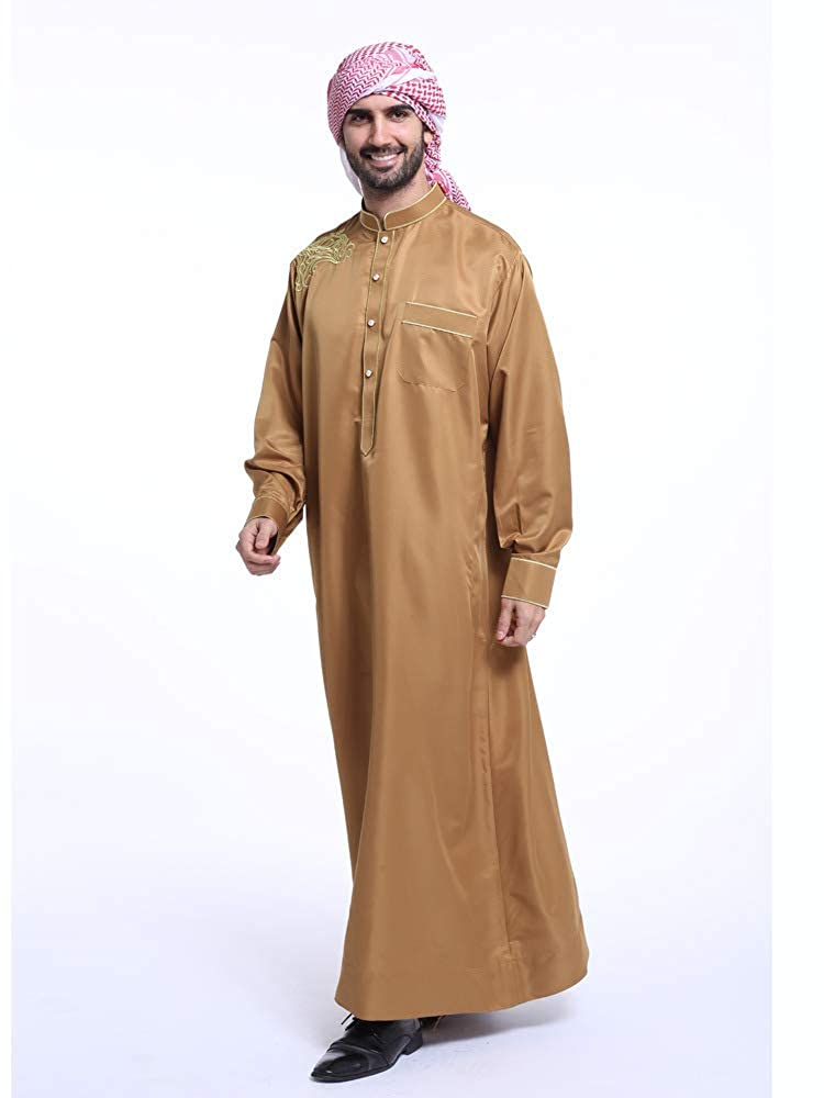 Accreate Fashion Men Arab Muslim Clothing Middle East Indian Mens Kaftan Robe