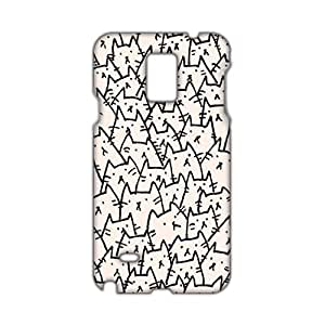 Angl 3D Case Cover Cats Kitty Phone Case for Samsung Galaxy Note4