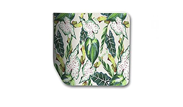 Tropical Flower Leather Passport Holder Protector Cover/_SUPERTRAMPshop