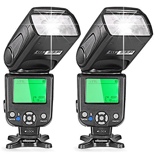 Neewer® Two i-TTL Flash Speedlite for Nikon DSLR Camera Such as D7200 D7100 D7000 D5200 D5100 D5000 D3000 D3100 D300 D700 D600 D90 D80 D70 D70S D60 D50(NW-562) (Best Price Nikon D3100 Bundle)