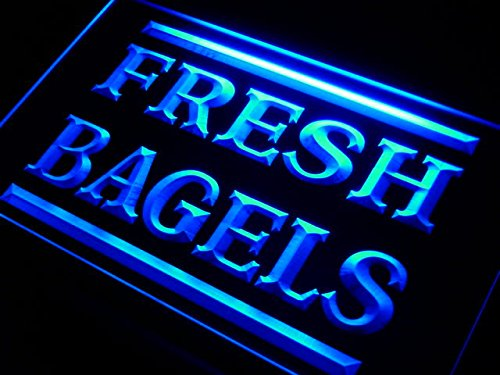 Fresh Bagels Shop LED Sign Neon Light Sign Display (Bagels Led Sign)