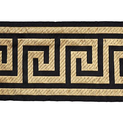 Belagio Enterprises 6-inch Greek Key Woven Tape Trim 10 Yards, Black