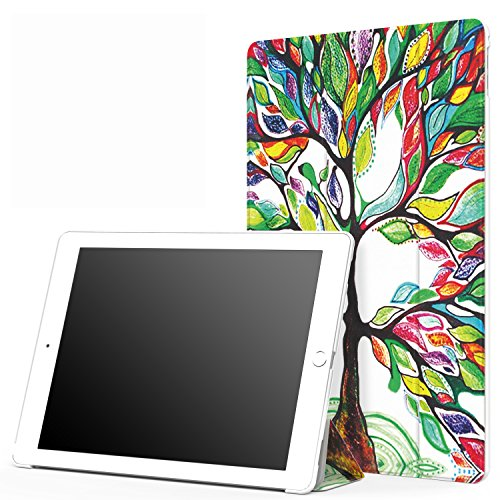 MoKo iPad Pro 12.9 Case Slim Lightweight Smart Shell Stand Cover with Auto Wake/Sleep for Apple iPad Pro 12.9 Inch iOS 9 2015 Release Tablet (NOT FIT iPad Pro 12.9 2017 Version), Lucky Tree