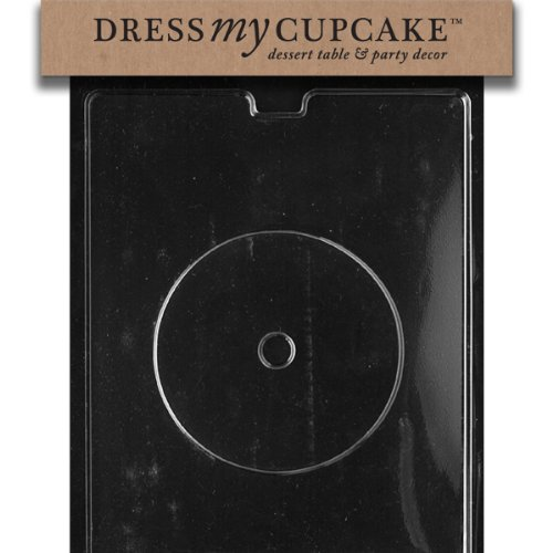 Dress My Cupcake Chocolate Candy Mold, CD for Jewel Case, Set of 6