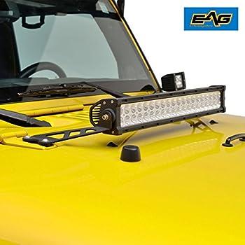 Amazon e autogrilles 07 17 jeep jk wrangler 20 led light bar e autogrilles 07 17 jeep jk wrangler 20 led light bar windshield hood mozeypictures Choice Image
