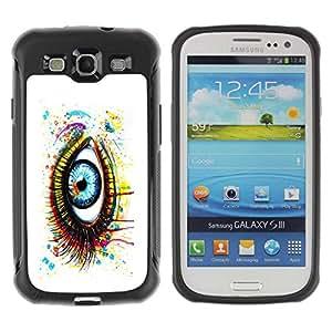 Planetar® ( Painted Eye ) Samsung Galaxy S3 III / i9300 i717 Hybrid Heavy Duty Shockproof TPU Fundas Cover Cubre Case