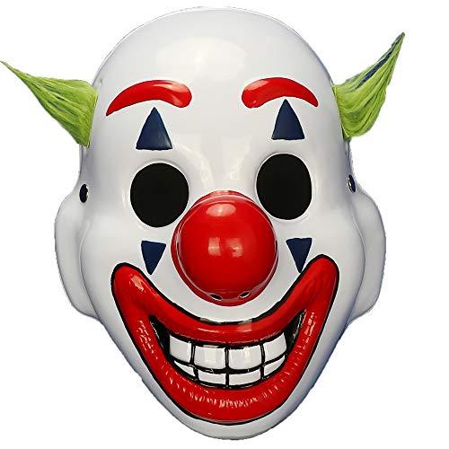 2019 Movie Costumes (2019 Movie Joker Arthur Fleck Cosplay Mask Clown Horror Halloween Masks (Half)