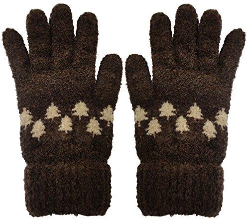 バースト人生を作る首尾一貫したツイン シュークリームもみの木5指手袋 ブラウン 510339 BR