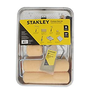 STANLEY Home Paint Kit Including Tray, Roller, Brush, and More - 8 Piece (PTST03508)
