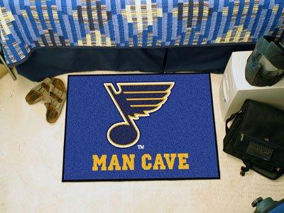 Wholesale FanMats St Louis Blues Man Cave Starter Rug 19x30, [NHL, St Louis Blues] (Louis Starter Blues)