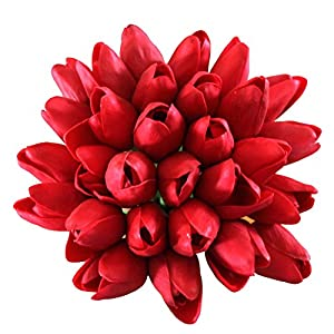 En Ge Real Touch Mini Artificial Tulip Heads Flowers for DIY Bouquets Wreath Wedding Kitchen Ornaments Home Deocr 5