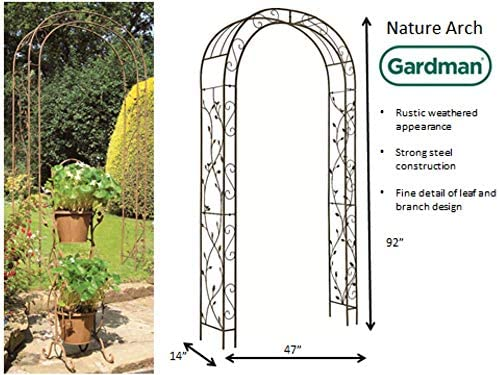 Amazon Com Gardman 7247 Nature Garden Arch Brown Hanging Planters Garden Outdoor