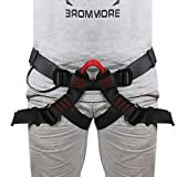 Lukher Climbing Harness - Protect Leg Waist Wider Safe Seat Belts For Mountaineering Outward Band Fire Rescue Caving Rock Climbing Rappelling, Women Man Child Half Body Guide Harness