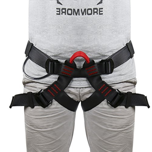 Lukher Climbing Harness - Protect Leg Waist Wider Safe Seat Belts For Mountaineering