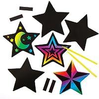 Baker Ross Aimants en Forme d'étoiles à gratter (Lot de 10) - Loisirs créatifs de Noël pour Enfants